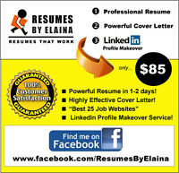 ► BEST Resume Service in the Area ~ 100% Satisfaction Guaranteed