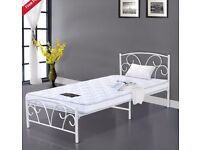 SINGLE CREAM BEDFRAME - £20 REDUCED FOR QUICK SALE