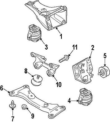 BMW 22-11-6-760-330   ENGINE MOUNT   #4 On Picture