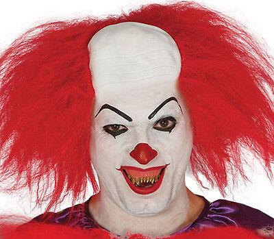 Horror Clown Spitz Zähne Halloween Monster Fang Zombie 80s Jahre - 80's Kostüm Kunststoff Maske