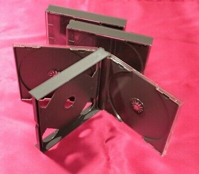 Fat Double Jewel Cases Black X 3 Pieces Set With Tray Product Of Japan 2cd