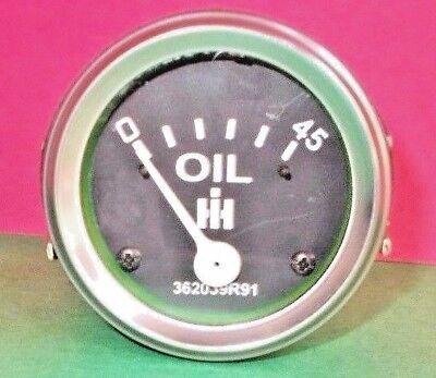Oil Pressure Gauge For Ih Farmall Diesel 350 400 450 460 560 600 650 - 45 Psi