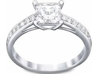 Swarovski silver crystal ring BNIB
