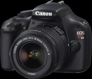 Canon EOS Rebel T3 12.2MP Digital SLR Camera with EF-S 18-55mm f