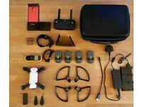 DJI Spark Fly More Combo + 4 Batteries + Custom Case + Wind Meter + Tablet Holder