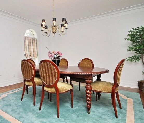 Bombay dining room table & 6 chairs - solid wood - great deal ...