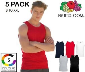 5-Pack-Mens-Fruit-Of-The-Loom-Athletic-Vest-Tank-Top-Plain-Printable-Gym-Sale