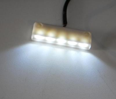 Surface Mount 5 LED Bright White Step Light white case ()