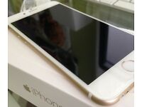 Iphone 6 unlocked 16gb gold/white