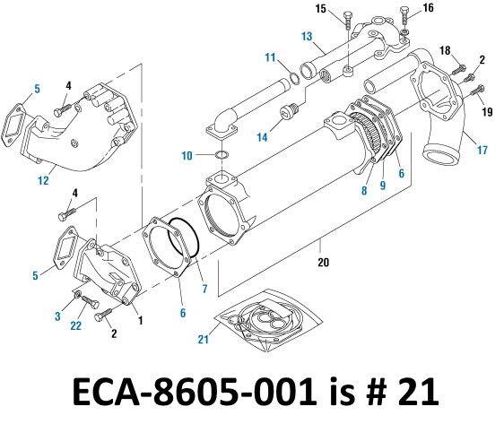 Oil Cooler Gasket Install Kit for Mack E6 E7 E-Tech