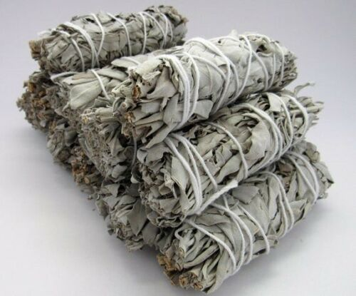 White Organic Sage Smudge Sticks Set of 10 | Bad vibe cleansing