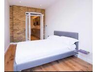 Contemporary modern grey linen button headboard bed chrome 5 five foot king size + ortho mattress