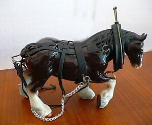 Clydesdale Draft Horse Figurine Collectible