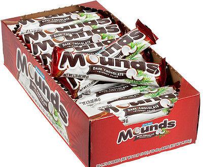 Mounds Chocolate Bar (Peter Paul Mounds Dark Chocolate Candy Bars FAST SHIP )