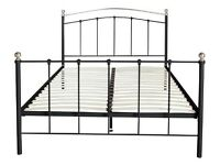 Darla double Metal bed frame with memory foam mattress