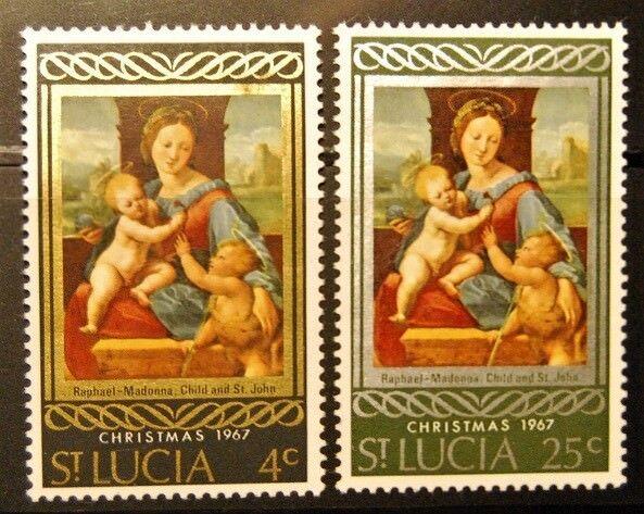 Briefmarken Sankt Lucia postfrisch MiNr. 219-220, Satz 2 Werte ...........(1629)