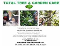 TOTAL TREE & GARDEN CARE, ALL YOUR NEEDS MET!