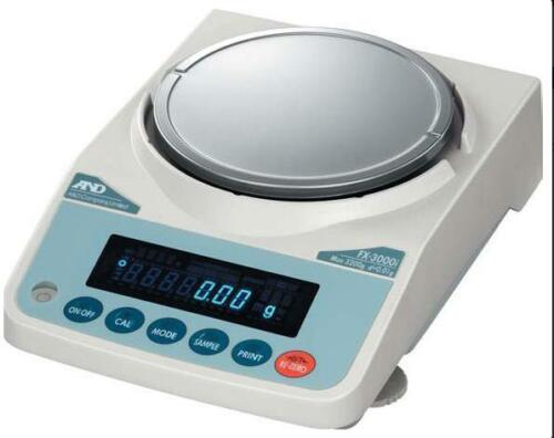 A&D WEIGHING JEWELRY SCALE FX-2000GD PRECISION BALANCE, 2200G X 0.01G