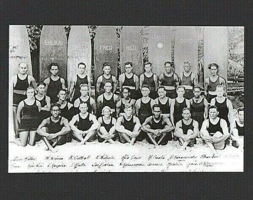 THE ORIGINAL HUI NALU SURF CLUB AT WAIKIKI BEACH HONOLULU, OAHU, HAWAII 1911?