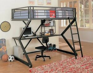 IKEA loft bed with desk
