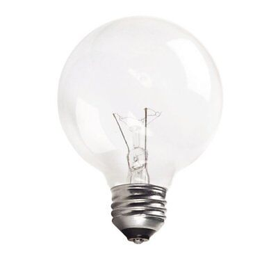 Philips 169037 40w G25 Clear Decorative Globe Medium Base  Light Bulb, 3-Pack