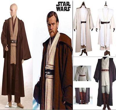 ADULT OBI-WAN Kenobi JEDI Knight Suits Cloak Cosplay Complete Costume STAR WARS  (Obi Wan Kenobi Costumes)