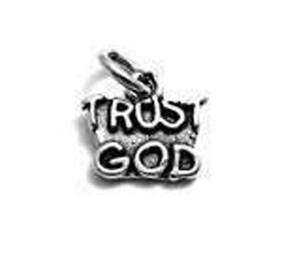 925 Sterling Silver Trust God Charm