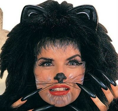 Cat Whiskers Mouse Animal Cute Costume Face Kitty Black Halloween Womens Girls](Cat Whiskers Costume)