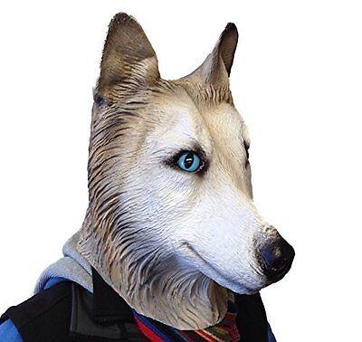 Sibirischer Husky Maske Wolf Hund Latex Tier Kostüm Hunde Halloween Masken