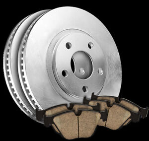 Quality Brake Rotors (Pair) & Pads Set 55074
