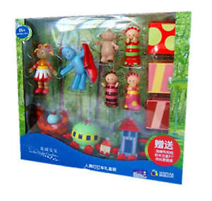 LARGE IN THE NIGHT GARDEN CHARACTER FIGURE & NINKY NONK SET TOY CAKE FIGURINES