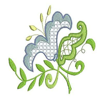 JACOBEAN FLOWERS  SET 3 - 20 MACHINE EMBROIDERY DESIGNS