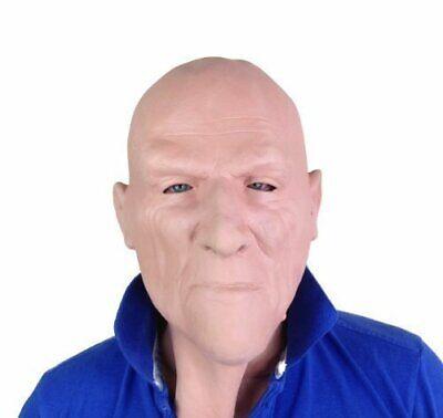 White Male Bald Head Hard Man Mask Latex Fancy Dress Costume Accessory Thug