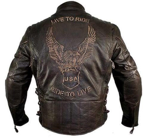 Mens Xl Distressed Leather Jackets Ebay