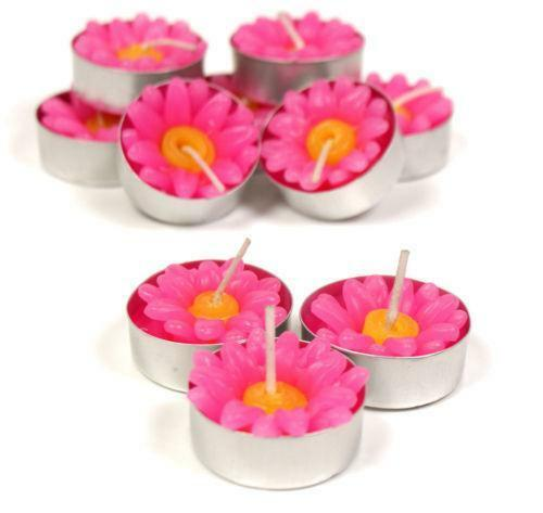 Flower Tea Light Candles Ebay