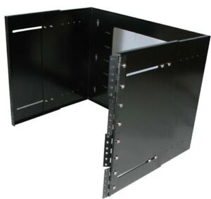"19"" inch 8U Hinged Extendable Depth 9.75-13.5"" Wall Mount Server"