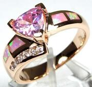 Gold Opal Inlay Ring