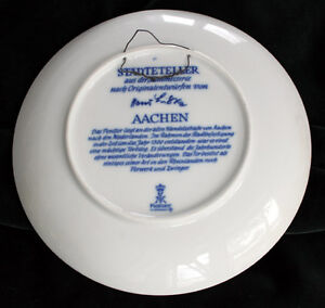 HAND-MADE AACHEN COLLECTOR PLATE Kitchener / Waterloo Kitchener Area image 2
