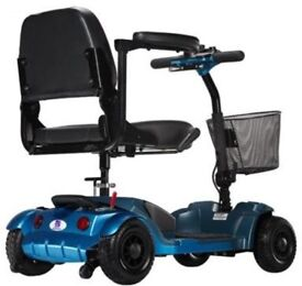 Heartway S34 Pixi Four Wheeled Scooter In Blue.