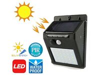 New LED Solar Powered PIR Motion Sensor Wall Light Outdoor Garden Security Lamp IP65