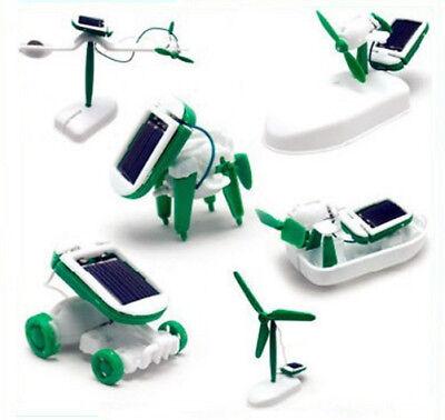 6 IN 1 DIY Educational Learning Toys Power Solar Robot Kit Children ABS Popular