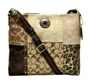 Brown Patchwork Coach Purse