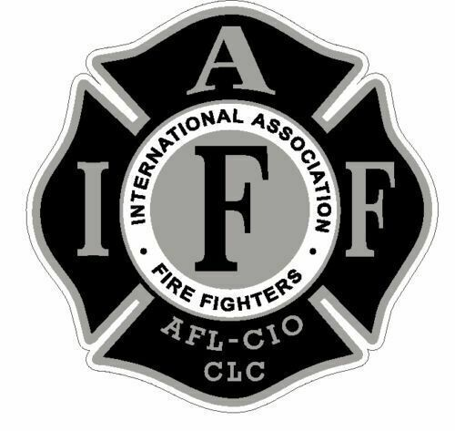 """4"""" IAFF Decal Black and Silver Exterior Mount"""