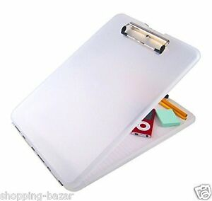 NEW A4 Clipboard Box File Durable Plastic Paper Holder Waterproof Outdoor Office