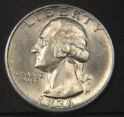 Silver Washington Quarters 1936D