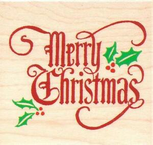 merry christmas rubber stamp