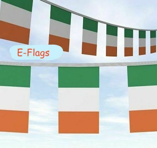 30 Metres Long ROI Rep Of Ireland Irish Flag ST Patricks Day Party Bunting