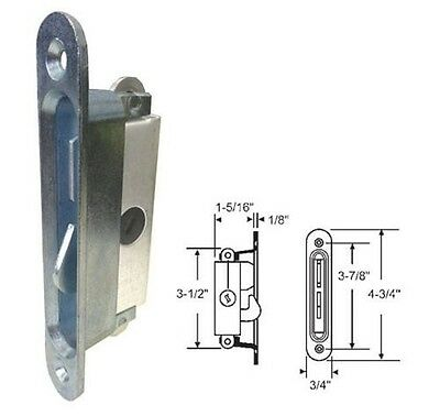 STB Sliding Glass Patio Door Lock, Mortise Type, Diagonal Hub, 3-7/8