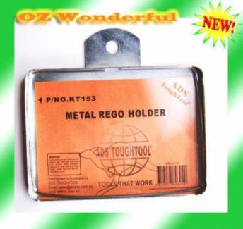 1 pc Metal RECTANGULAR REGO LABEL HOLDER TRAILER MOTORBIKE BOAT