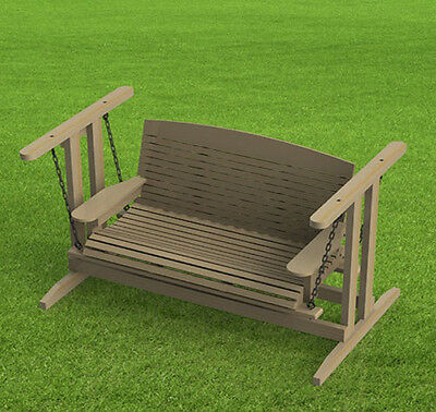 Free Standing Porch Swing Woodworking Plans - Easy to Build - Paper Plans Only